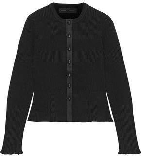 Proenza Schouler Ribbed-knit Peplum Cardigan