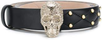 Philipp Plein skull and stud belt