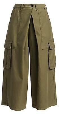 Rag & Bone Women's Cargo Wide-Leg Culotte Pants