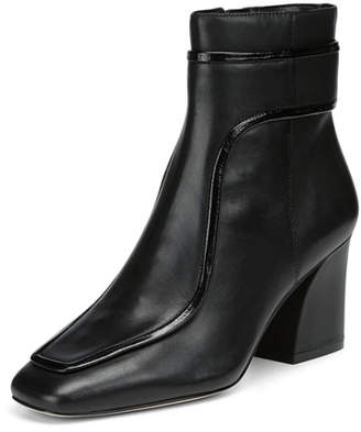 Donald J Pliner Geena Leather Block Heel Booties