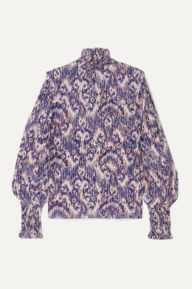 Etoile Isabel Marant Yoshi Printed Silk Crepe De Chine Blouse - Purple