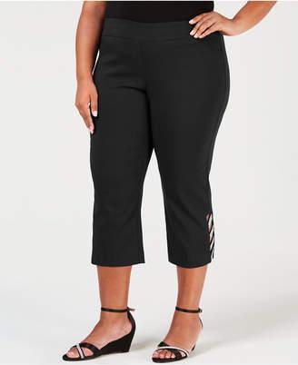 JM Collection Plus Size Embellished Capri Pants
