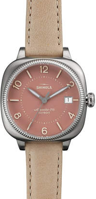 Shinola 36mm Gomelsky Watch w/ Leather Strap