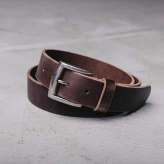 DSTLD Mens Standard Leather Belt in Brown