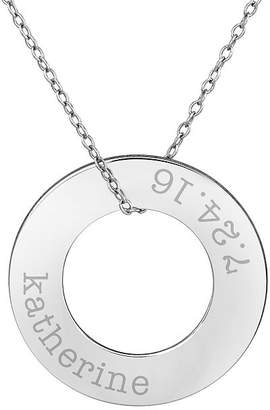 FINE JEWELRY Womens Sterling Silver Circle Pendant Necklace
