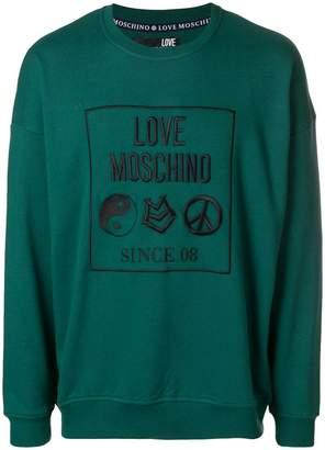 Love Moschino embroidered logo sweatshirt