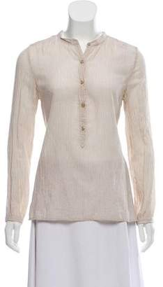 Etoile Isabel Marant Pinstripe Button- Up Top