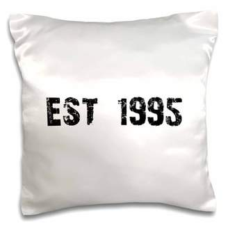 3dRose Grunge Est Established in 1995 - Ninties Baby Born Child of the 1990s - Personal custom birth year - Pillow Case, 16 by 16-inch