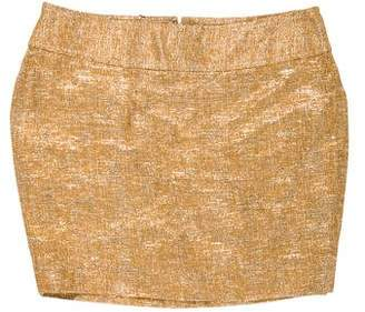 Dolce & Gabbana Metallic Mini Skirt
