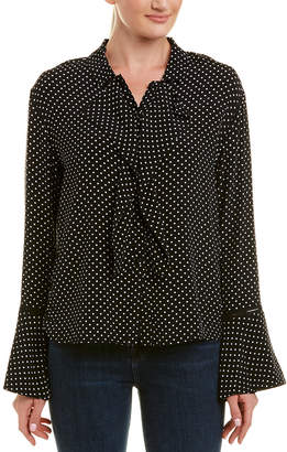 Three Dots Crepe Blouse