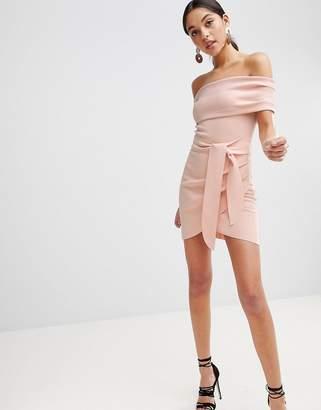Bec & Bridge Off Shoulder Bodycon Mini Dress