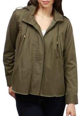 Lucky Brand Hooded Zip-Front Jacket