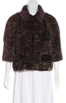 Chanel Cropped Fur Jacket