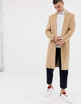 Asos DESIGN wool mix kimono jacket in camel