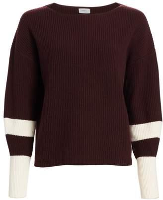 Akris Punto Varsity Stripe Ribbed Pullover