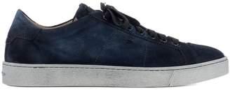 Santoni Blue Suede Sneakers