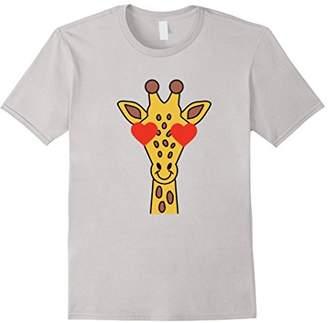 Giraffe Emoticon Heart & Love Eye Animal Face Shirt