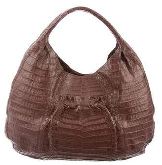 Nancy Gonzalez Alligator Shoulder Bag