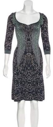 Zac Posen Metallic Printed Dress
