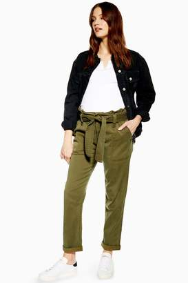 Topshop Womens **Maternity Belted Utility Cargo Trousers - Khaki