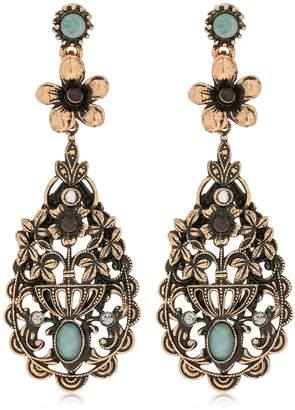 Alcozer & J Floral Drop Earrings