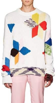 Calvin Klein Men's Quilt-Knit Cotton-Blend Oversized Sweater - Cream