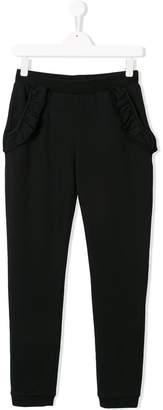 Douuod Kids TEEN ruffle detail trousers