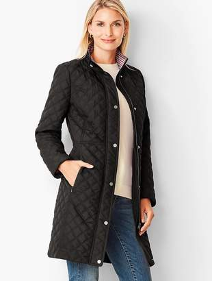 Talbots Quilted Long Coat