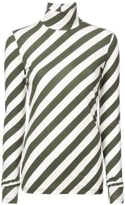 Proenza Schouler PSWL Diagonal Stripe Turtleneck