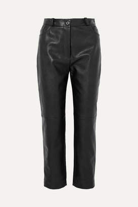 Stella McCartney Faux Leather Straight-leg Pants - Black