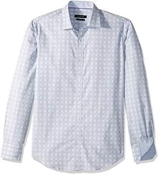 Bugatchi Men's Cotton Shaped Fit Jacquard Fabric Shirt