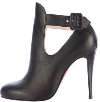 Christian Louboutin Christian Louboutin Leather Cutout Ankle Boots