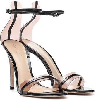 Gianvito Rossi G-String 105 patent leather sandals