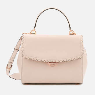 MICHAEL Michael Kors Women's Ava Scallop Grommit Medium Top Handle Satchel - Soft Pink