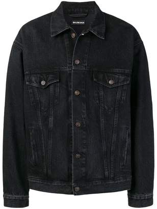 Balenciaga Embroidered denim jacket