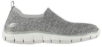 Skechers Girls Empire Clear As Day Trainers Junior Slip On Lightweight Knit