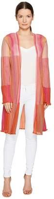 M Missoni Multicolor Plisse Cardigan Women's Sweater