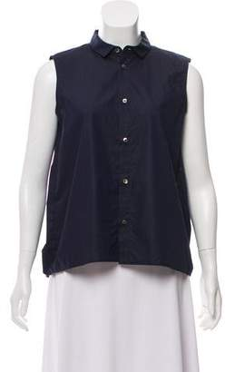 08sircus Sleeveless Button-Up Top