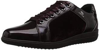 Geox Women's Nihal 7 Velvet and Patent Fashion Sneaker