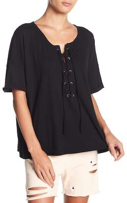 Wildfox Couture Laced Up Short Sleeve Shirt