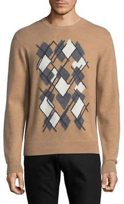 Z Zegna Argyle Cashmere-Blend Sweater