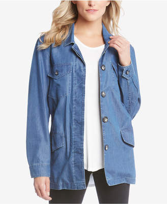 Karen Kane Belted Denim Utility Jacket