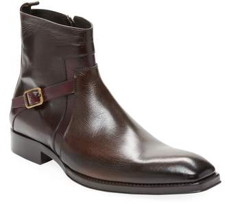 Jo Ghost Men's Square Toe Leather Boots