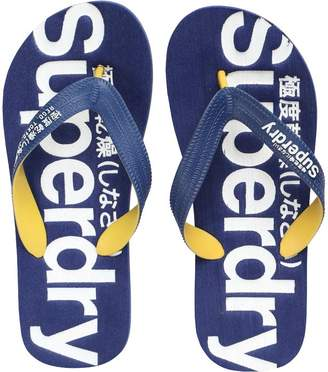 Mens Flip Flops French Navy/White