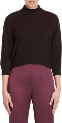 Ter Et Bantine Brown Three-Quarter Sleeve Cashmere Sweater
