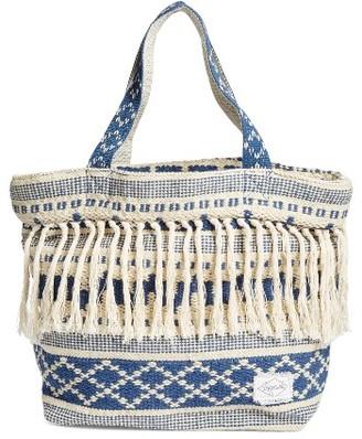 Rip Curl High Tide Fringe Beach Bag - Blue $49.50 thestylecure.com