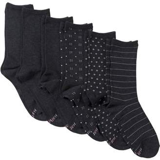 Hanes Women's ComfortBlend Crew Socks - Extended Sizes - 6 Pair