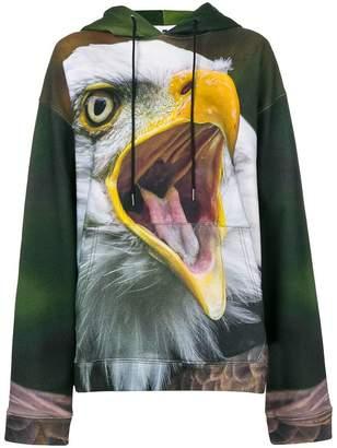 R 13 Eagle print hoodie