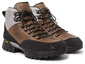 ROA Andreas Rubber And Shell-Trimmed Distressed Nubuck Hiking Boots