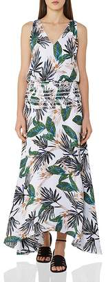Reiss Maribel Printed Silk Maxi Dress
